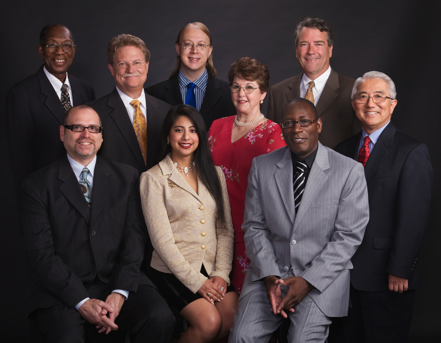 The Memnosyne Team (top row, L to R): Board Member/Education Director - Phillip Collins; Co-Founder/Executive Vice-President - Joshua Raymond Frenk; Director of Programs - Rev./Dr. Todd Collier; (2nd Row L to R): Executive Director - Coke Buchanan; Treasurer - Constance Hargis CPA; Director of Memnosyne Campus - Phillip Shinoda; Vice-President of Events - Alan Keith; Co-Founder/President - Mary Ann Thompson-Frenk; Asisstant to The Directors - Anthony Chisom